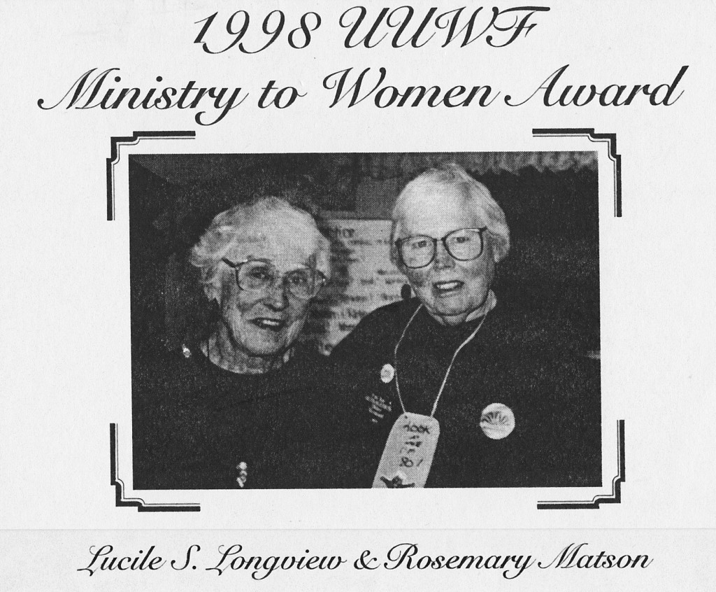 1998 UUWF Ministry to Women Award