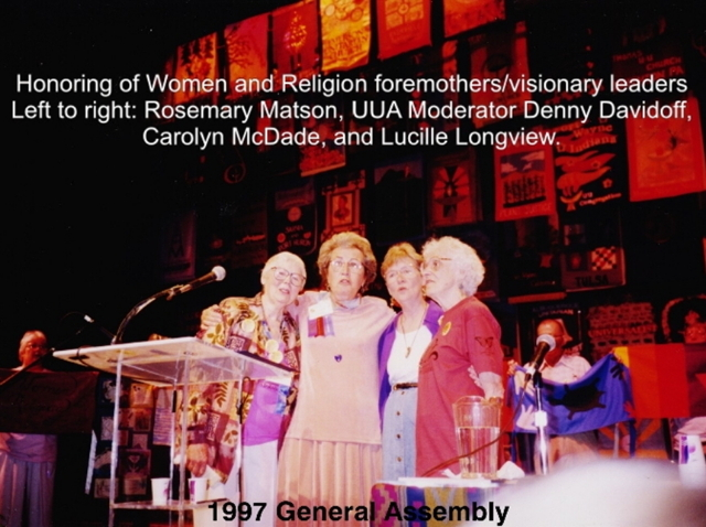 Rosemary, Denny, Carolyn, Lucile at 1997 GA