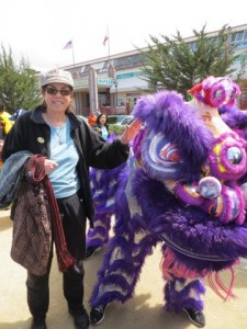Liz and Chinese Lion