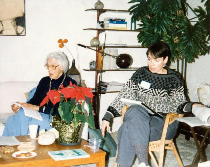 Lucile and Liz at Rosemary's 1985