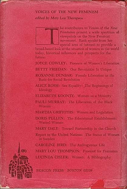 Voices of the New Feminism, Back Cover